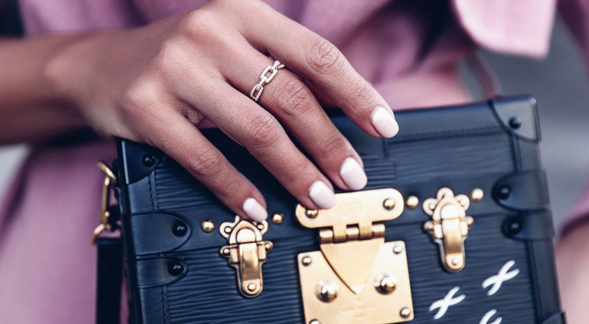 David Yurman 9mm Stax Narrow Ring with Diamonds P7iZO4