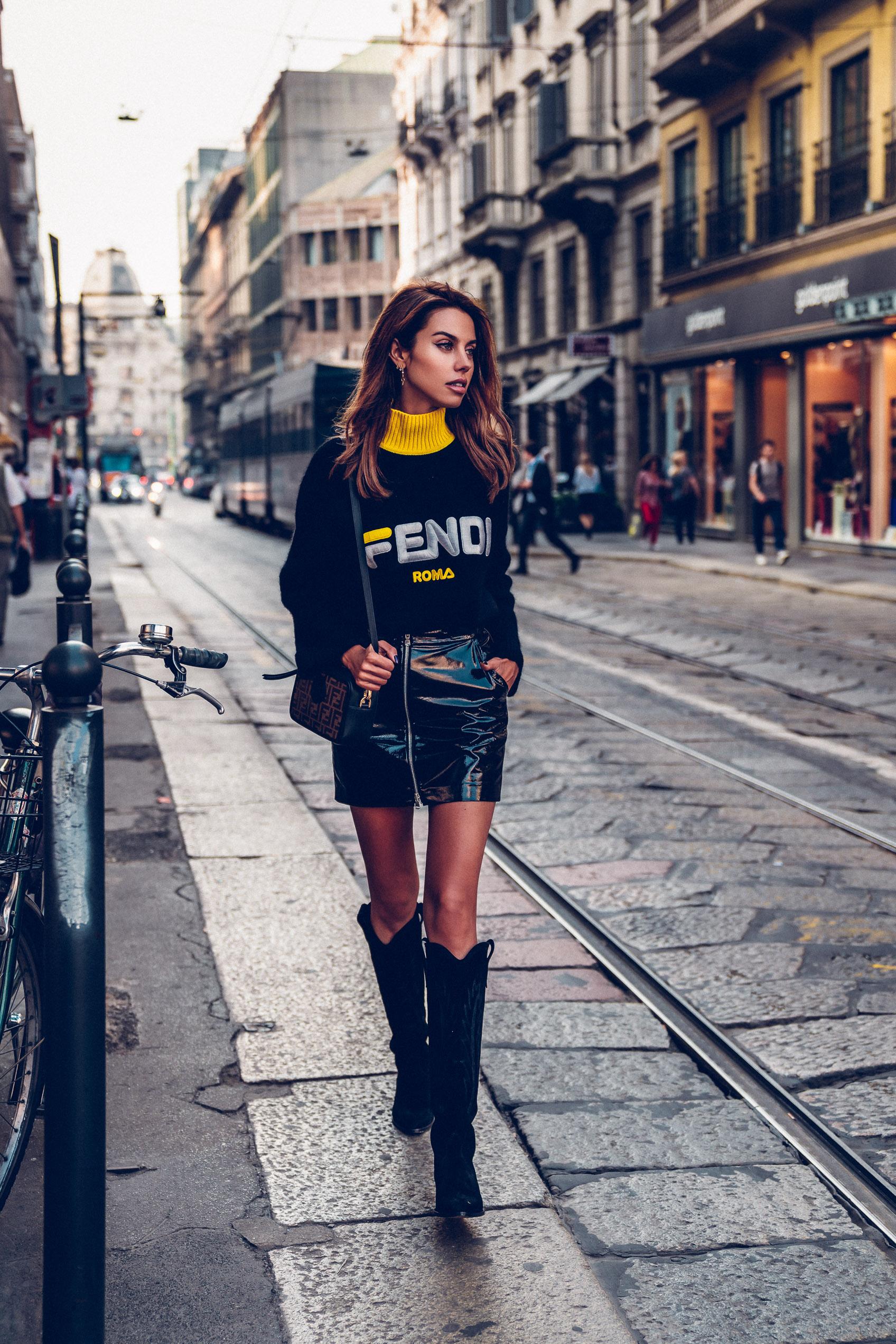 Image result for fendi camerabag street style